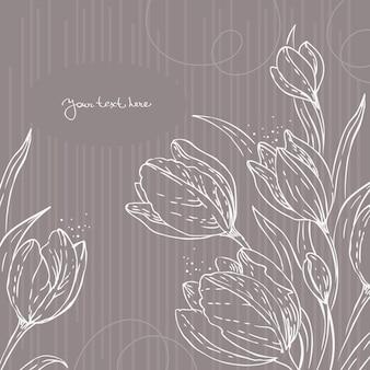 Sfondo floreale con tulipani