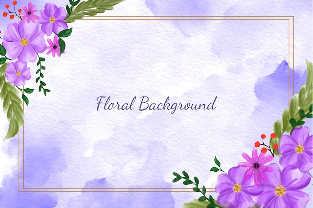 Sfondo floreale Vettore Premium