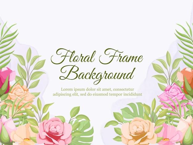 Sfondo banner floreale per donna e decorazione di nozze