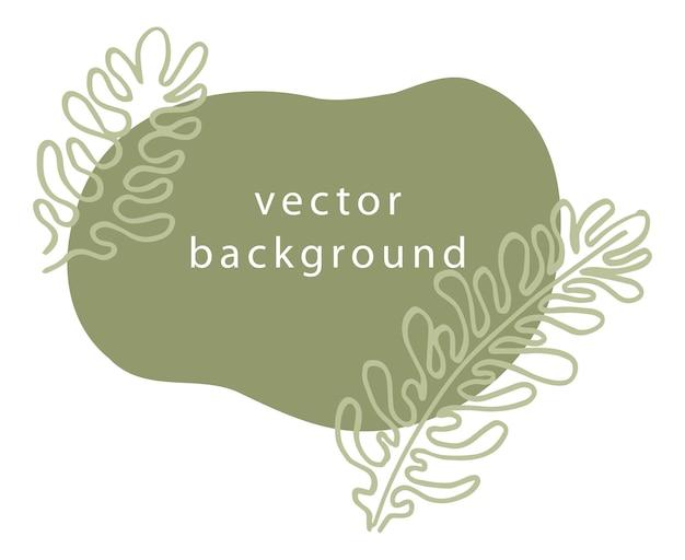 Banner floreale con foglie ecologia e natura