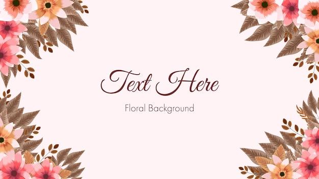 Modello di carta cornice bordo floreale utilizzato come app di post sui social media per banner di sfondo web