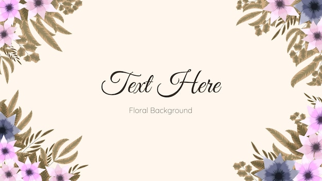 Modello di carta cornice bordo floreale utilizzato come sfondo web, banner,