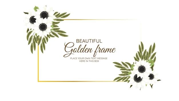 Bouquet floreale cornice fiori vintage biglietto di auguri, matrimonio, social