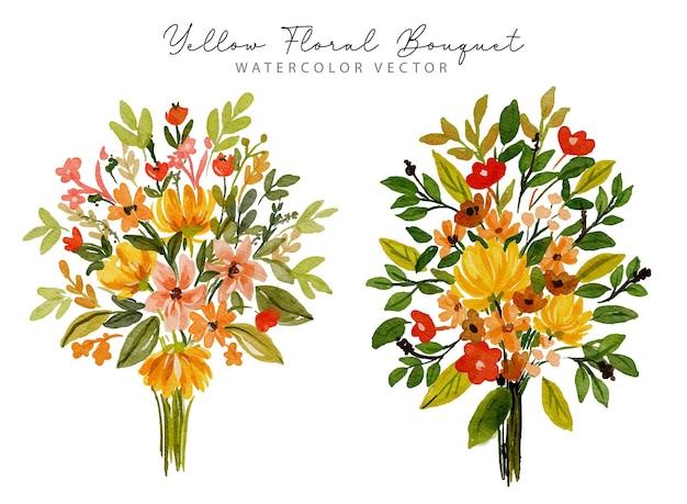Set di primavera bouquet floreale primavera giglio e foglie