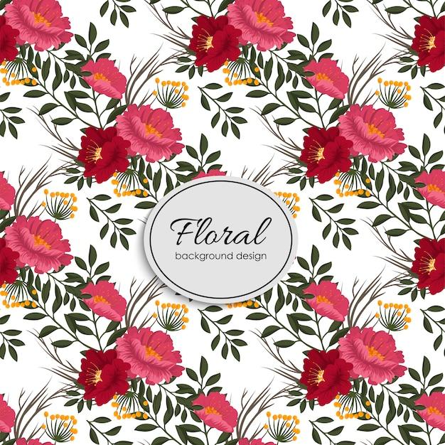 Modello vettoriale bouquet floreale con fiori e foglie