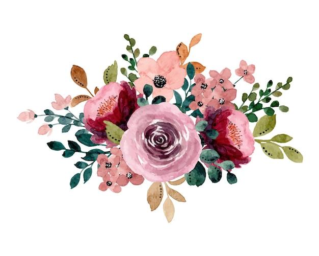 Bouquet floreale con acquarello