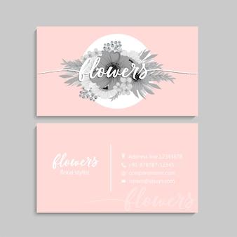 Design biglietto da visita floreale