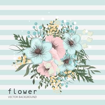Composizione floreale con fiori colorati.