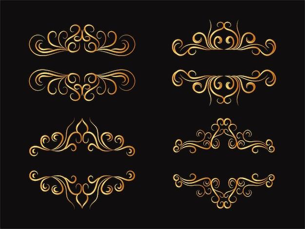 Elementi di divisori floreali mega set di decorazioni per la collezione