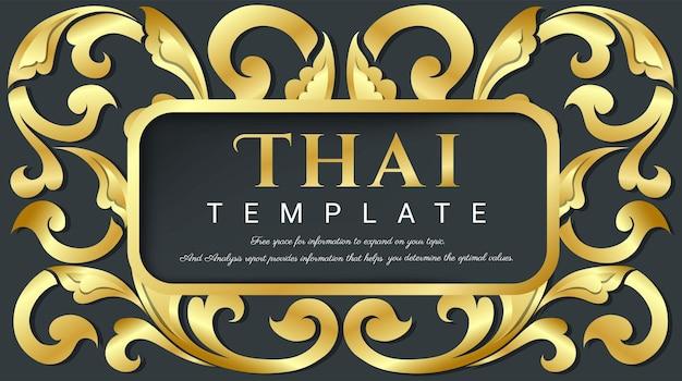 Elementi floreali per il design concetto tradizionale tailandese