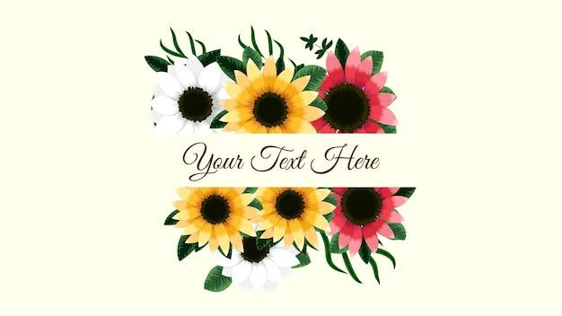 Elementi floreali e cornici di fiori in stile dettagliato per biglietti di auguri inviti di nozze