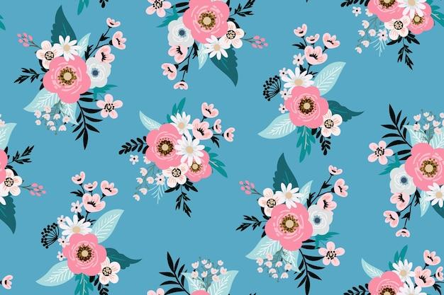 Design floreale con stampa di moda per abiti da donna primaverili ed estivi