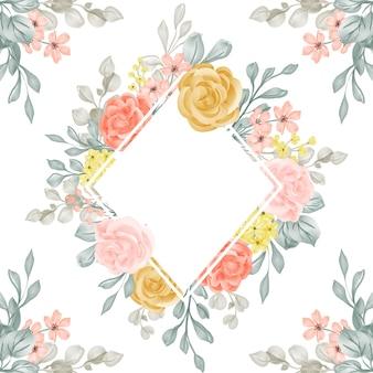 Sfondo cornice floreale con spazio bianco