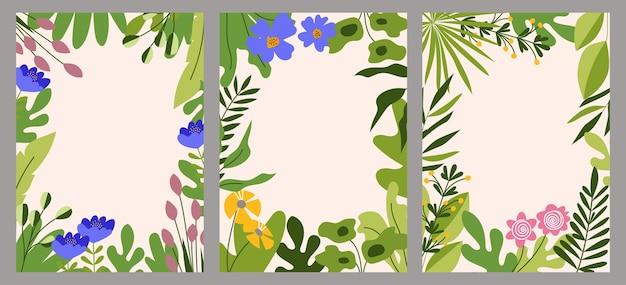Insieme della struttura floreale, fondo floreale astratto della primavera e dell'estate con lo spazio della copia per testo.