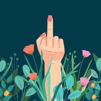 Simbolo floreale del cazzo