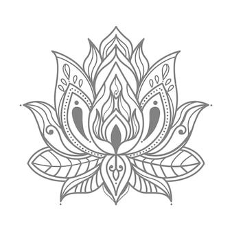 Illustrazione floreale del loto per la decorazione