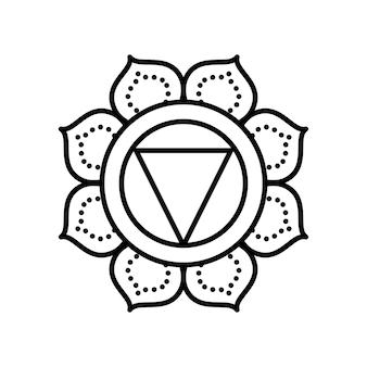 Decorazione mandala floreale