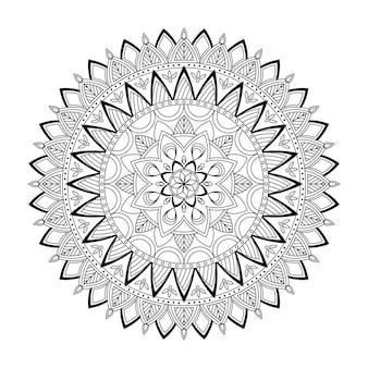 Mandala floreale, illustrazione vettoriale