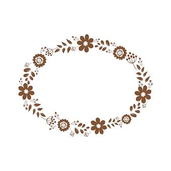 File di carta monogramma floreale ritagliato