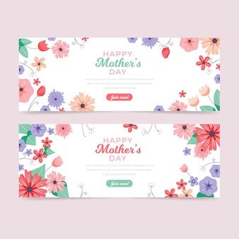 Set di banner floreale festa della mamma