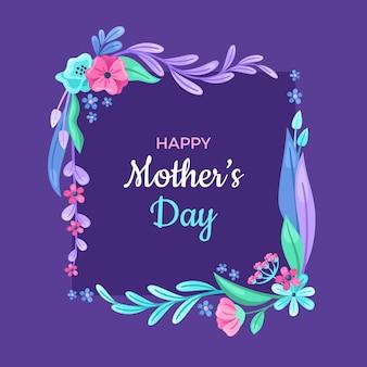 Illustrazione floreale di festa della mamma