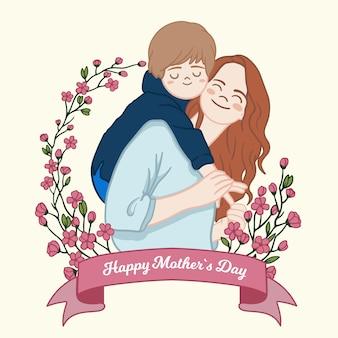 Concetto floreale festa della mamma