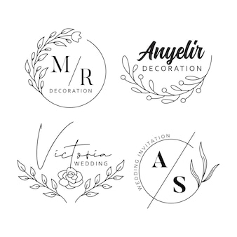 Design del logo aziendale floreale e naturale