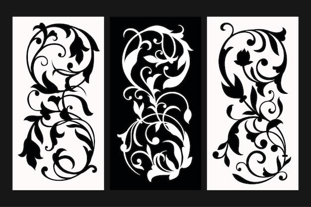 Ornamento floreale con il concetto di stencil