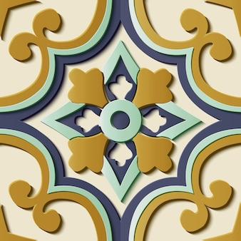 Motivo floreale ornamentale senza soluzione di continuità