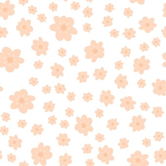 Motivo floreale in stile doodle con fiori
