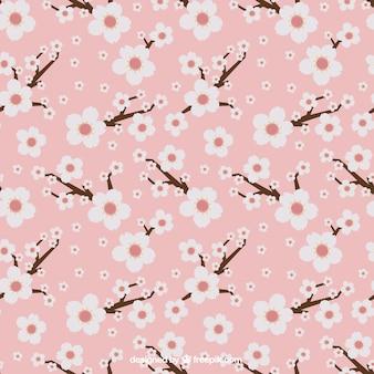 Motivo floreale, di colore rosa,