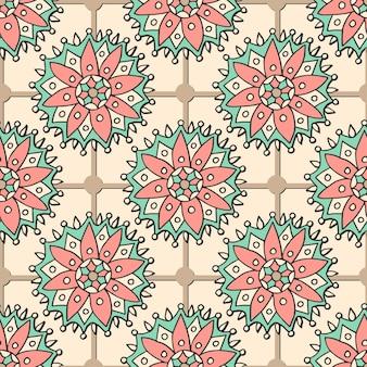 Reticolo floreale senza giunte plaid. può essere utilizzato per tessuti, tessuti, confezioni