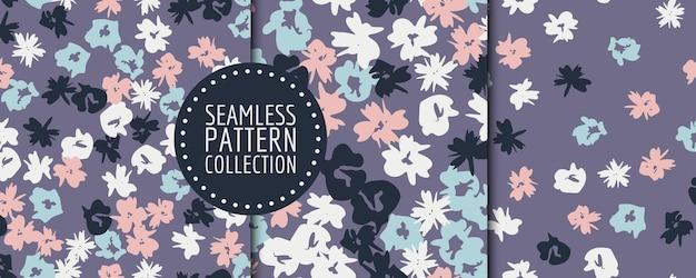 Collezione floreale senza cuciture. disegno vettoriale per carta, tessuto, decorazioni d'interni e copertina