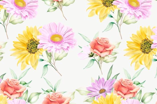 Fioritura floreale del modello senza cuciture floreale