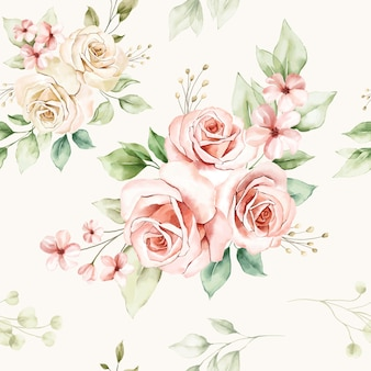 Motivo floreale senza soluzione di continuità di composizioni floreali