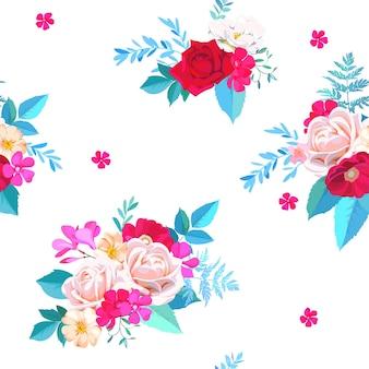 Motivo floreale senza cuciture per abito primaverile in stile acquerello