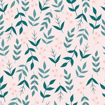 Motivo floreale senza soluzione di continuità con fiori e foglie