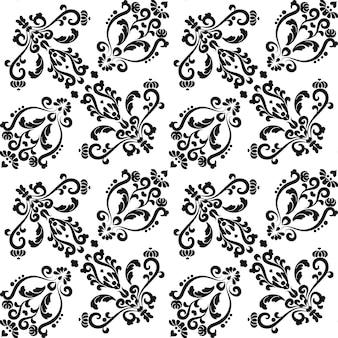 Motivo floreale senza cuciture stencil riutilizzabili per pittura floreale per la progettazione di tessuti da parete