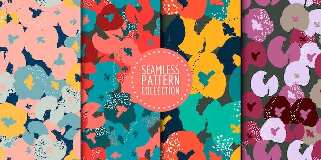 Collezione di motivi floreali senza soluzione di continuità. disegno vettoriale per carta, tessuto, decorazioni d'interni e copertina