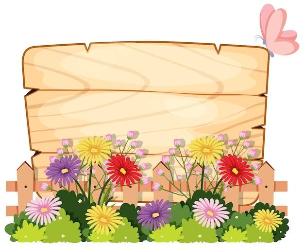 Modello di banner floreale primaverile