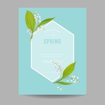 Modello di disegno floreale primaverile per invito a nozze, biglietto di auguri
