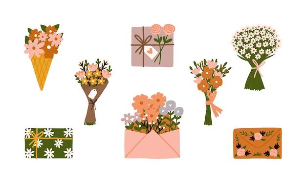 Icona di primavera floreale isolato su bianco