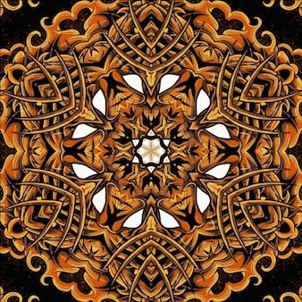 Trama floreale con elementi vintage mandala. può essere utilizzato per carta da parati, riempimento a motivo, sfondo della pagina web, struttura della superficie. motivi islamici, arabi, indiani, ottomani