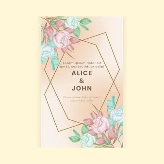 Invito a nozze concetto acquerello floreale