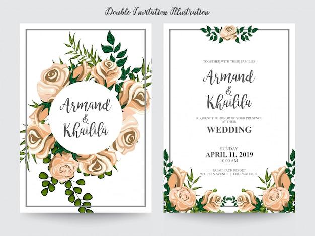 Acquerello floreale per l'illustrazione di disegno dell'invito