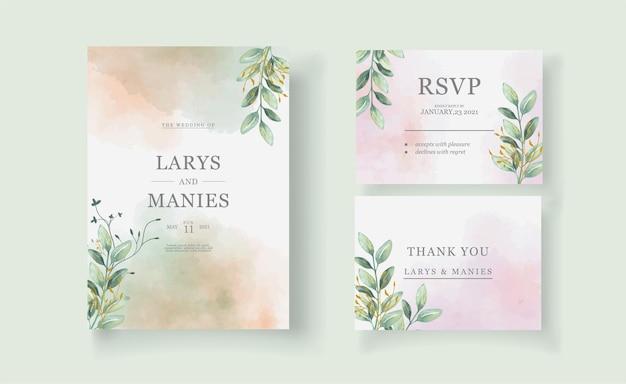 Invito per partecipazioni di nozze ad acquerello floreale