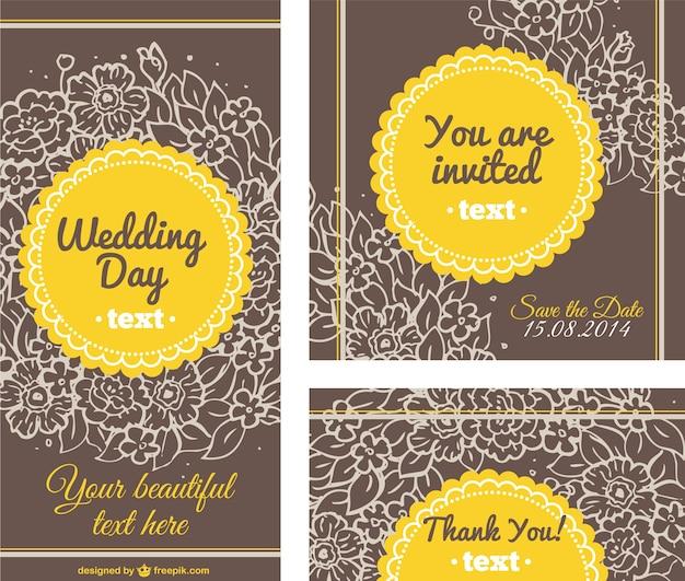 Modelli di carta di nozze floreali