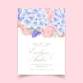 Invito a nozze floreali
