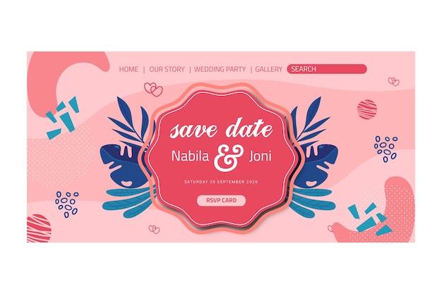 Pagina di destinazione del matrimonio floreale