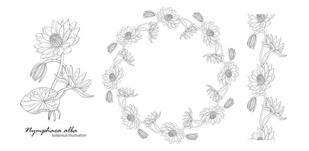 Ghirlanda floreale con fiori di giglio.